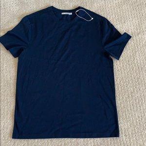 Vince Men's Crew Neck Cotton T-Shirt Navy Size S